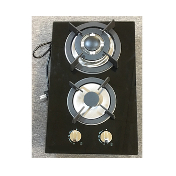 Two burner cooktops tempered glass panel with safety device built in gas stove
