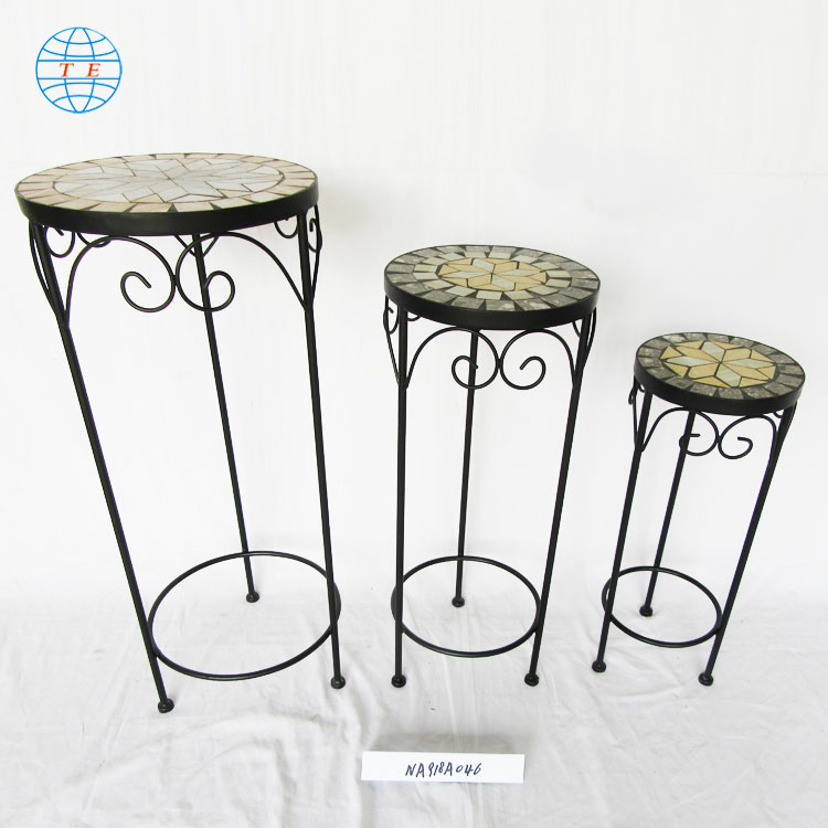 wholesale supply powder coated Black iron Metal Wire Wedding Display ,Cheap metal outdoor garden planter flower stand