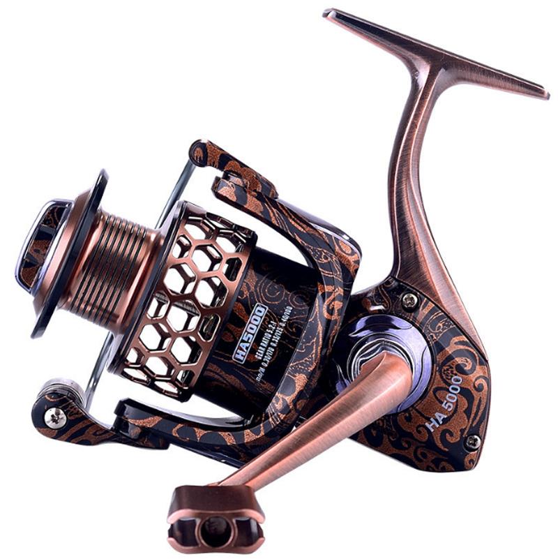 Amazon Germany Technology 1000-7000 17+1 Bearing Metal Front Drag Reel Fishing Spinning Reels Pesca kastking fishing reel, Color
