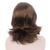 Fashion Medium Short Centre Parting Brown Wigs Synthetic Hair Middle Part Wig For Women