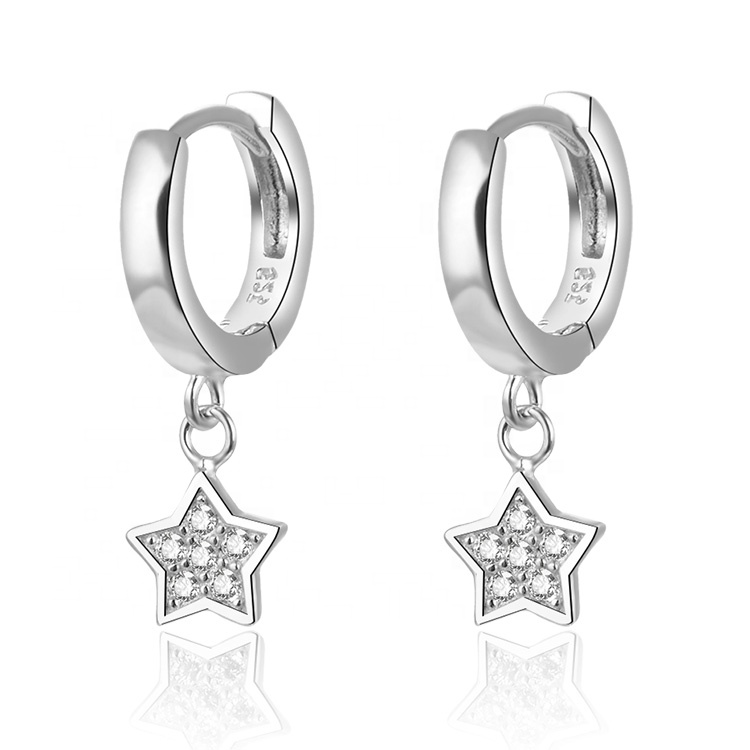 도매 (high) 저 (quality 패션 aretes 듐 plating cubic 지르코니아 earring 보석 custom women 925 sterling silver earrings
