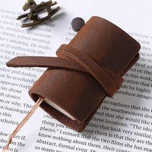 Винтажный мини-блокнот из воловьей кожи, 1 шт., записная книжка в стиле ретро, дорожная книжка, повседневная кавиа, мини-блокнот, Канцелярские...(Китай)
