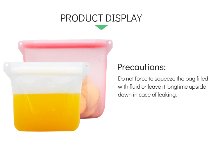 Fresh Sealed Reusable Food Grade Silicone Food Storage Sandwich Bag