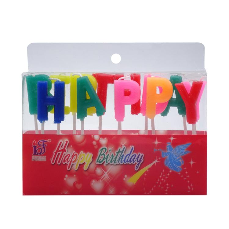 새로운 디자인 생일 알파벳 촛불 케이크, 도매 주문 생일 양초