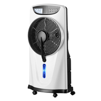 12' Rechargeable mist and standing fan home with led light air cooling fan