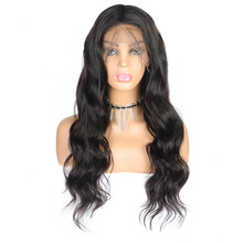 2020 Lace Front Human Hair Wigs For Women Plucked With Baby wave Hair Black Body Wave Brazilian Lace Wig