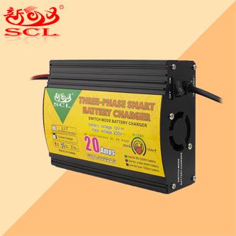 Sunchonglic triphasé mode de charge intelligent 12V 10A ÉCRAN LCD chargeur de batterie au plomb-acide pour voiture