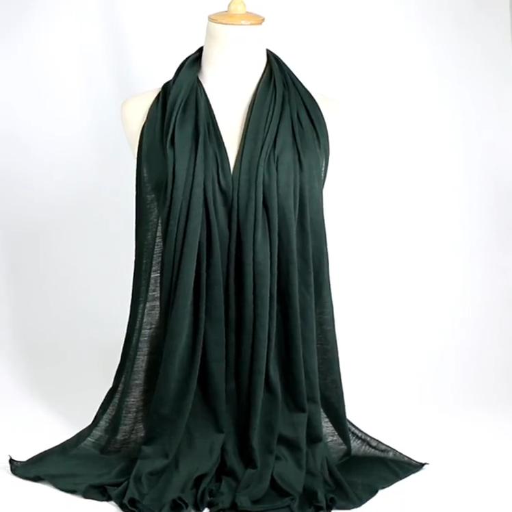 Manufacturer New Muslim Scarf Pretty Wholesale Women Elegant Jersey Hijab Scarf