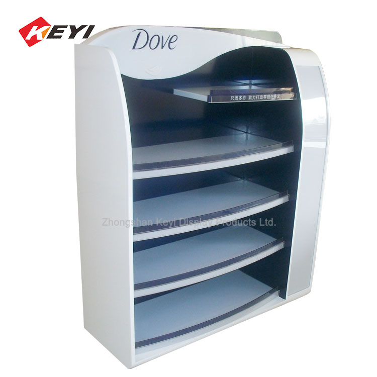 High End Customized Cosmetics Products Display Rack Skin Care Product Promotion Stand