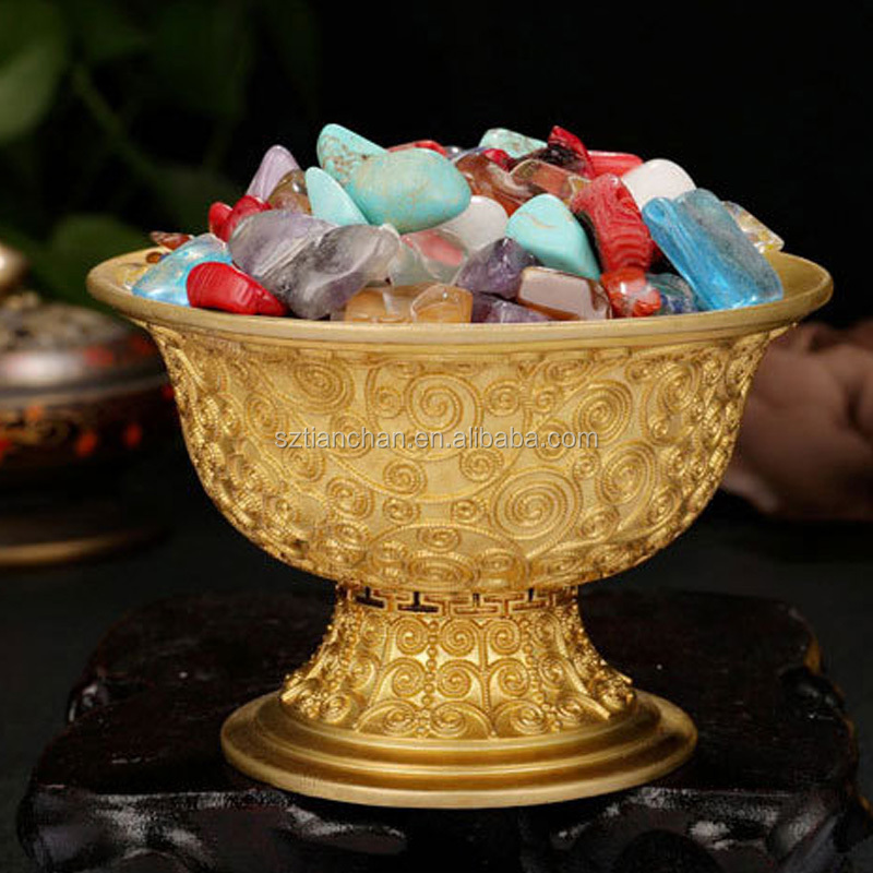 Best Quality Gemstone Offering Cup Buddhist Ritual Goods Collection Tibetan Water Offering Bowls