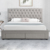 Willsoon 1217D modern European Designs Double Storage Bed King Queen Size With Drawer Ottoman velvet fabric Bed