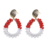 Fashion Christmas design crystal bead stud earrings for women