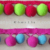 Children'S Mantle Shawl Decoration Colorful Pom Pom Fringe For Table Cover