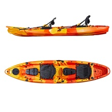China OEM barato al por mayor de plástico no inflable 3 asientos doble pesca familia <span class=keywords><strong>kayak</strong></span> de mar con Canoa <span class=keywords><strong>kayak</strong></span> <span class=keywords><strong>Accesorios</strong></span>