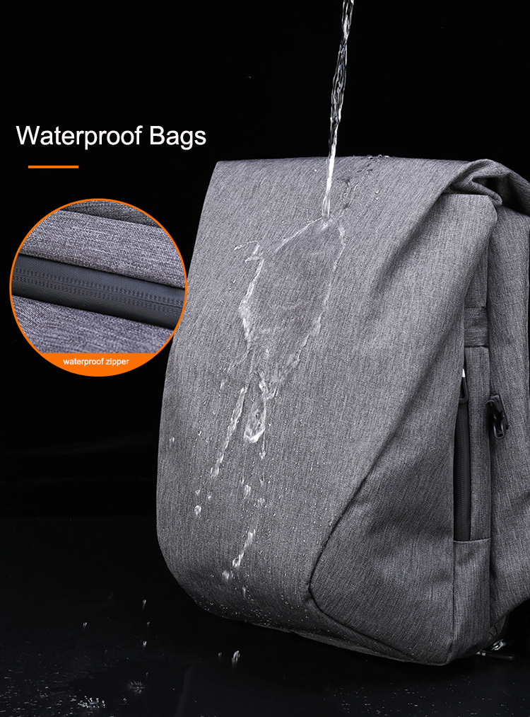 Customizable  Logo Travel Leisure Waterproof 3 Main Pocket 15.6inch Laptop Nylon Top Fold Men Backpack