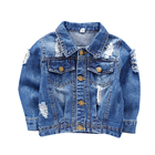 Guangzhou fashion children clothes kids distressed style denim jacket for boys