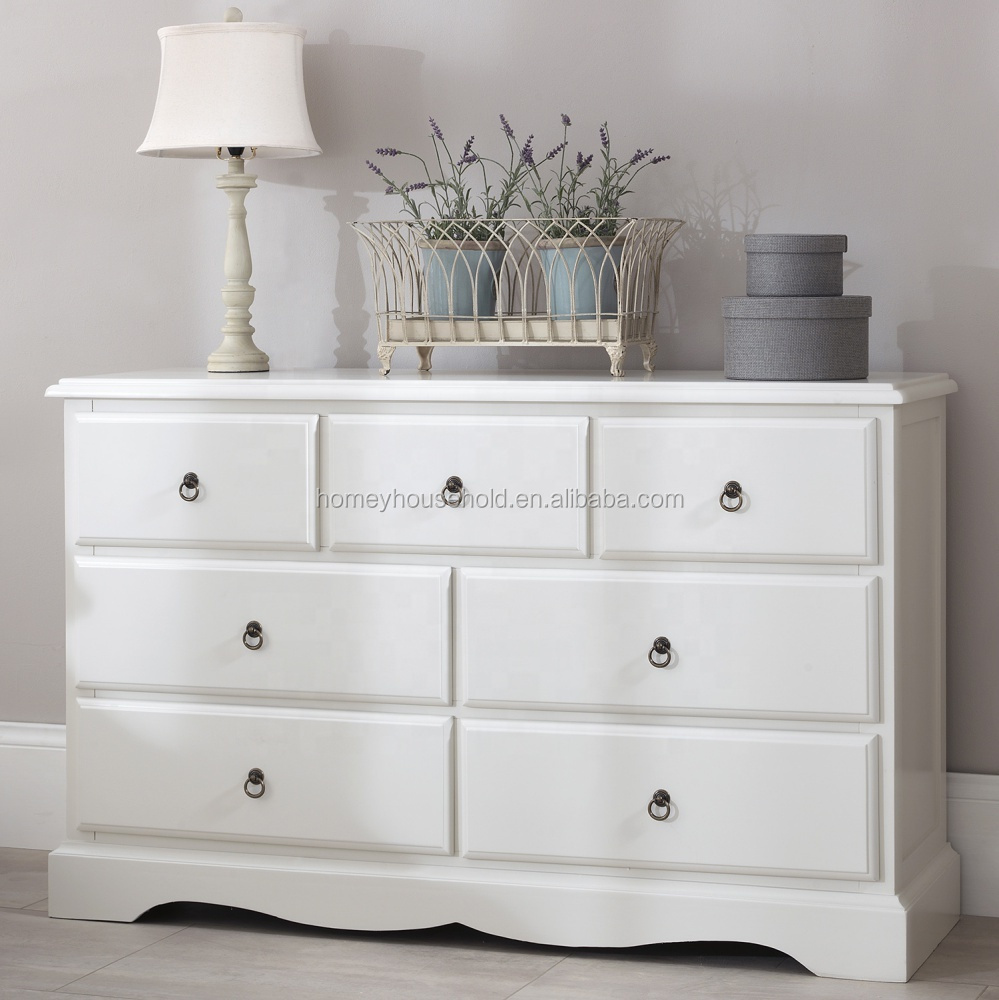 Romance Beautiful Shabby Chic White 3 Over 4 Chest of Drawer