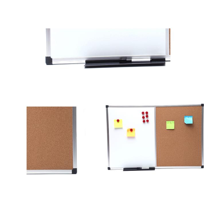 School dry erase cork bulletin board whiteboard cork board with black frame