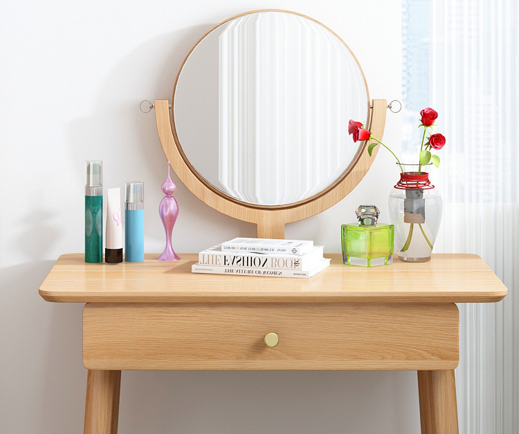 product-Makeup Mirror Price Furniture Mini Console Folding Bedroom Drawer Dressing Table Sets-BoomDe-1