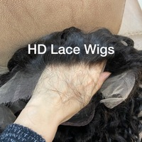 100% virgin 13x4 HD Transparent Lace Front Human Hair Wigs Cuticle Aligned Hair Wig