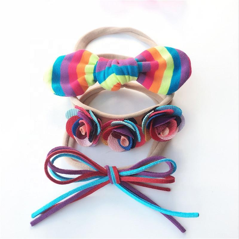 Yiwu usine vente en gros bandeau élastique ensemble bébé enfants cheveux accessoires