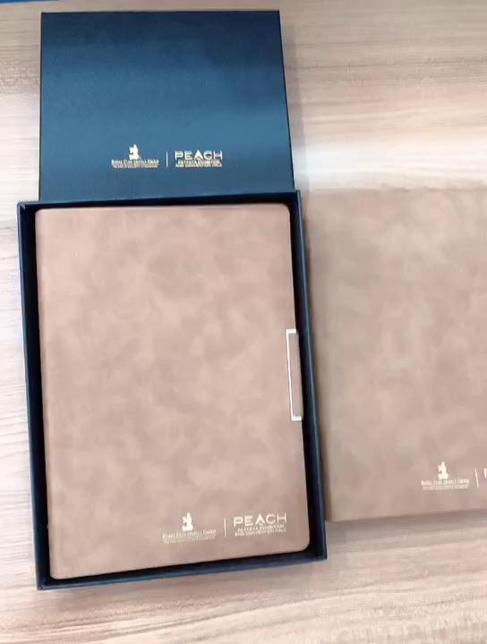 2019 Mejor Organizador agenda cuaderno planificador de cuero nota libro con pluma adjunta