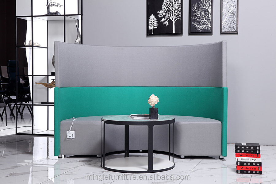 Foshan mingle furniture co ltd Round shape office phone booth meeting booth with coffee table