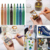 custom 6mm tip water-based paint acrylic marker pens for wood, cloth, gift, metal, glass, ceramics, tires