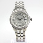 Fashionable 316L Stainless Steel Shell Dial Japanese Quartz Movement 10ATM Waterproof Watch with 64 CNC SW Diamonds
