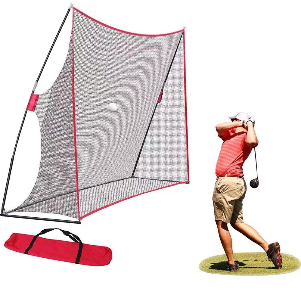 Drop shipping service 10x7ft Portable Golf Hitting Net With Carrying Bag
