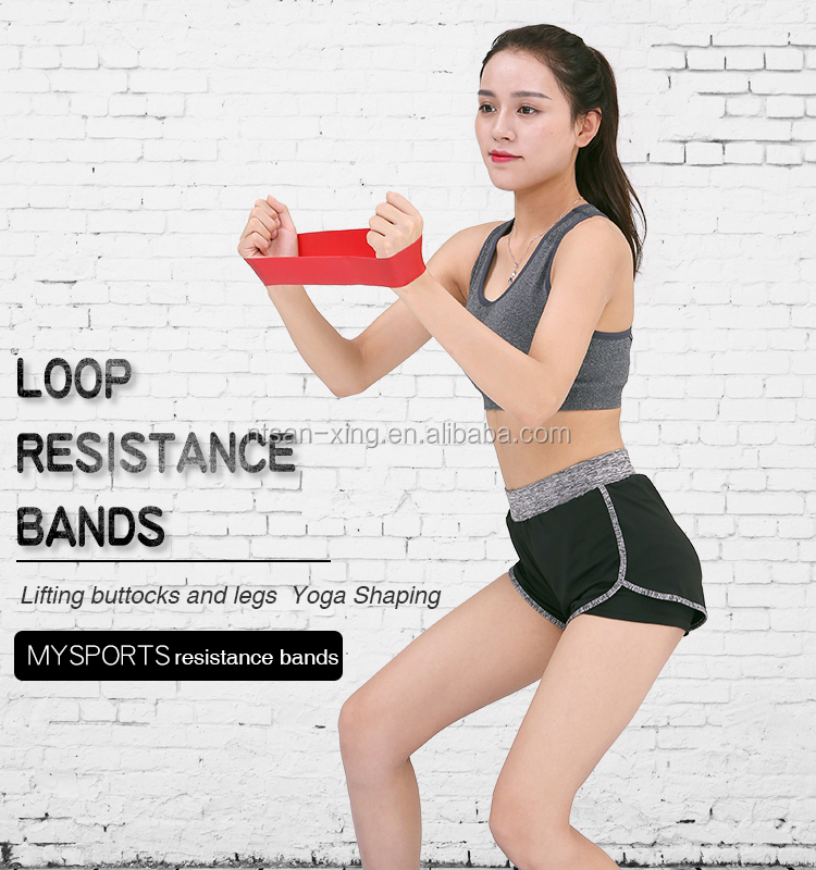 600mm Latex stretch fitness custom printed resistance mini loop band