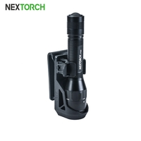 "NEXTORCH V5 Tactical Flashlight Holster with Lever Side Lock System for 1""-1.25"" Diameter Flashlight Tactical Polymer Holster"