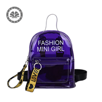 high quality plastic cute ziplock fashion stationery 2 shoulder pvc school bag for children kids factory price