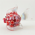 Cute colorful handmade murano glass fish