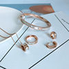 Designer Costume Women Shell Rose Gold Fashion Jewelry Set Stainless Steel