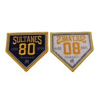 Customized embroidered patches embroidery badge patch with back iron