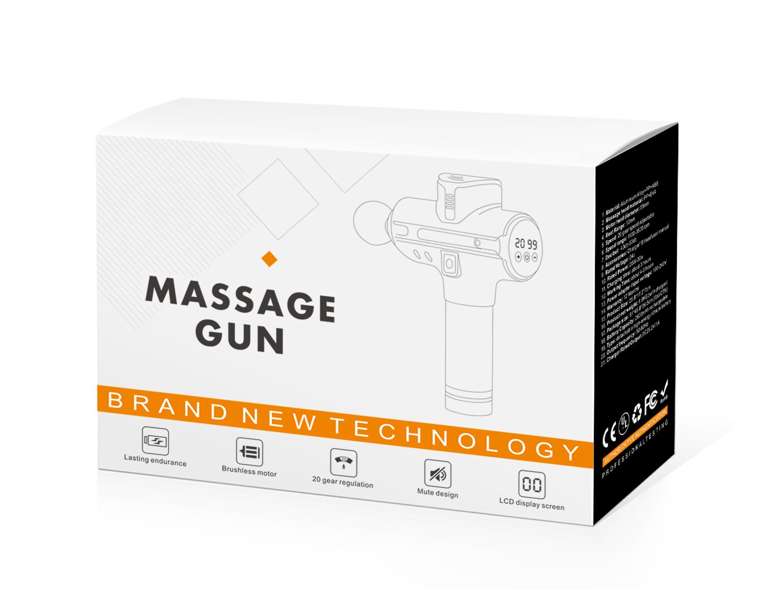 5200mah 20 Speed Percussive Massage Therapy Gun Muscle ...