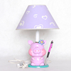 Newest lovely pig base study lamp with pen holder for children