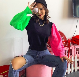 Fashion 2019 New Autumn Winter Knitted Sweater For Women Long Sleeves O-neck Sexy Loose Office Ladies Casual Pullover Sweaters
