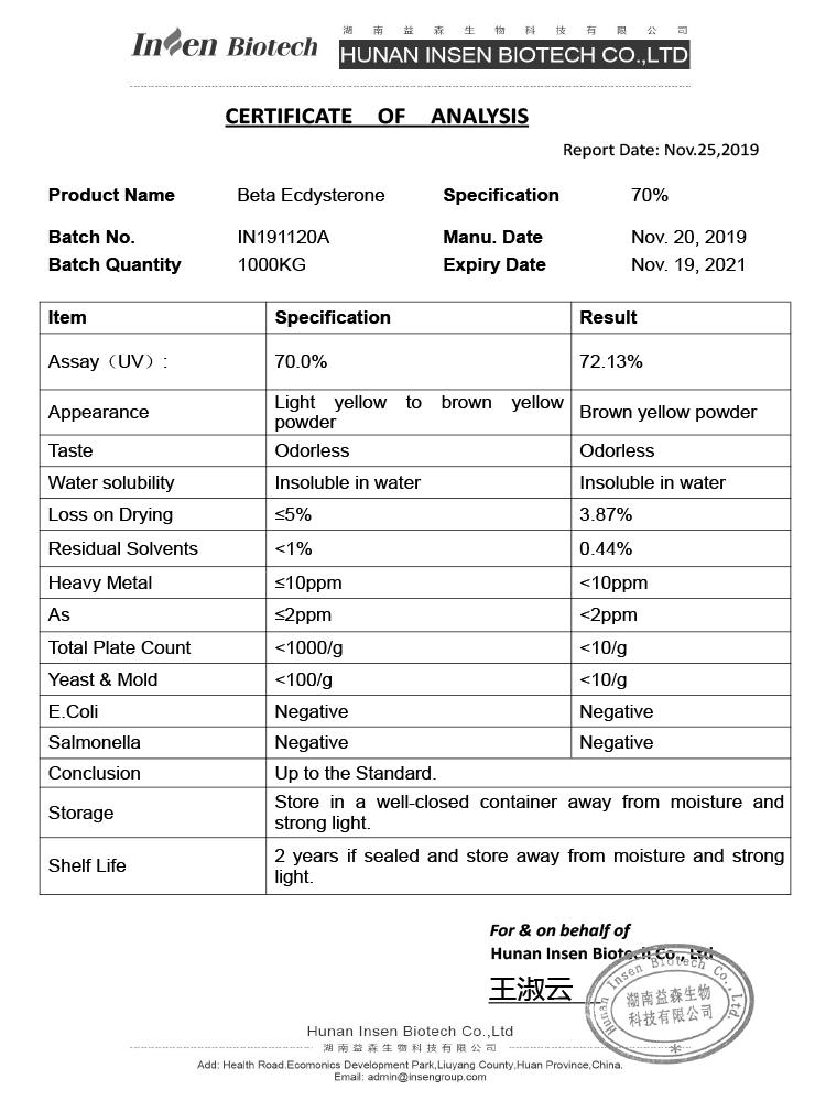 Top Quality 95% Beta Ecdysterone