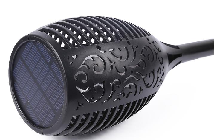Impermeabile Solar Powered Esterna giardino illuminazione Solare sfarfallio fiamme luce della torcia per la sicurezza luce percorso
