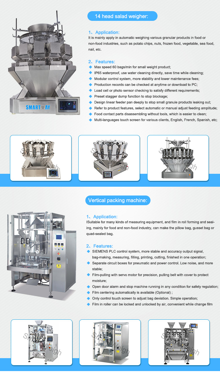 Smart Weigh pack new vertical filling machine supply for salad packing-4