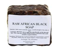 Raw African Black Soap with shea butter