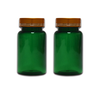 Green 100m PET Pills Bottle Vatamin Capsule Packaging Bottle Medicine Packaging Container Plastic Pharmaceutical Packaging