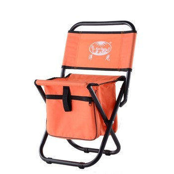 Outdoor camping leisure folding backrest bag chair portable comfortable barbecue fishing chair