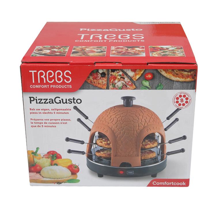 Home Use Square Terracotta Brick 4 Person Pizza Maker Oven