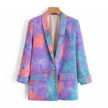 Женский блейзер с карманами [DEAT], пиджак свободного кроя с длинными рукавами и отложным воротником, весна-осень 2020, 13T453(Китай)