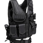 Military Glock Holster Tactical Vest Military Security Tactical Breathable Mesh Vest Military Airsoft Molle Heavy Duty Vest With Glock Holster