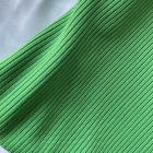 High Grade Bright Green Breathable Plain Dyed Tubular Rib Circula Polyester Cotton Interlock Knitted Fabric
