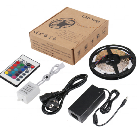 5050 RGB LED Strip Lights Remote Control 60 Leds Flexible LED Strip Lighting Full Kit For Decoration